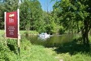 Ausstiegsstelle zum B-Camp für Paddler