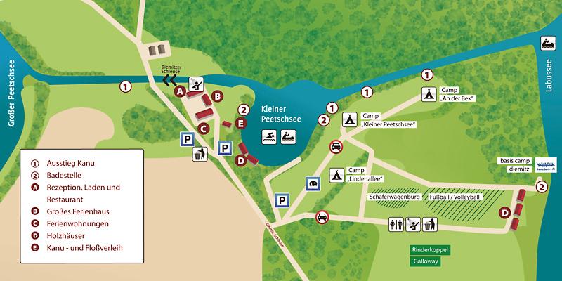 Lageplan Biber Ferienhof
